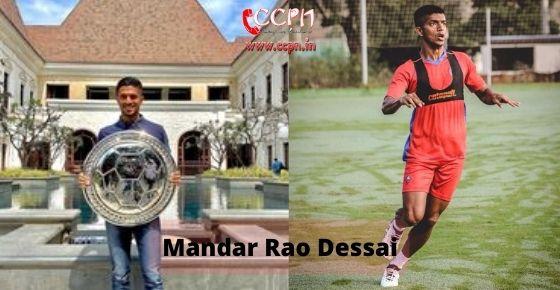 How to contact Mandar Rao Dessai