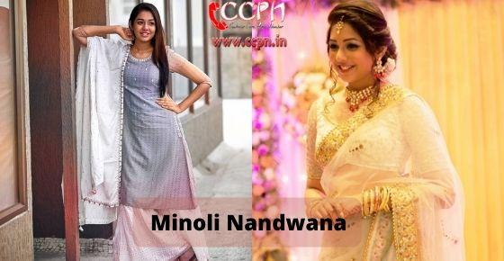 How to contact Minoli Nandwana