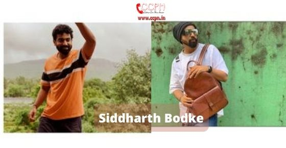 How to contact Siddharth Bodke