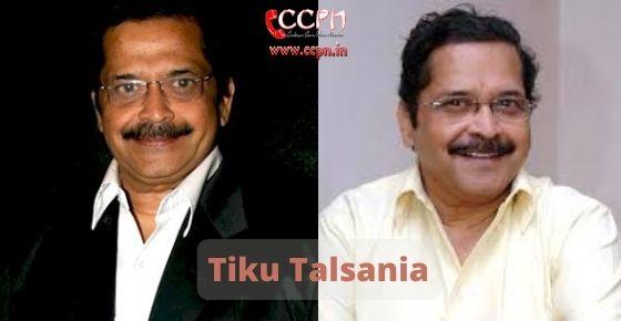 How to contact Tiku Talsania
