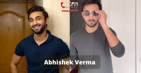 How to contact Abhishek Verma
