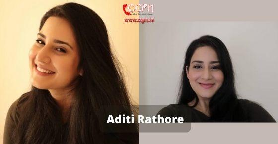 How to contact Aditi Rathore