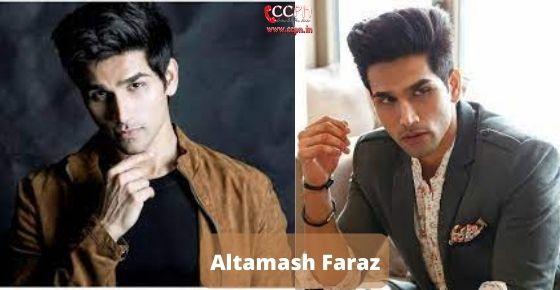 How to contact Altamash faraz