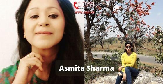 How to contact Asmita Sharma