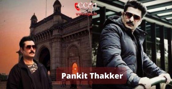 How to contact Pankit Thakker