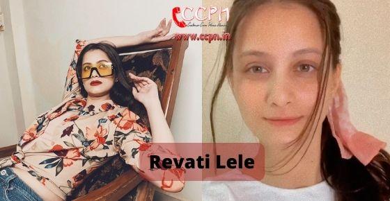 How to contact Revati Lele