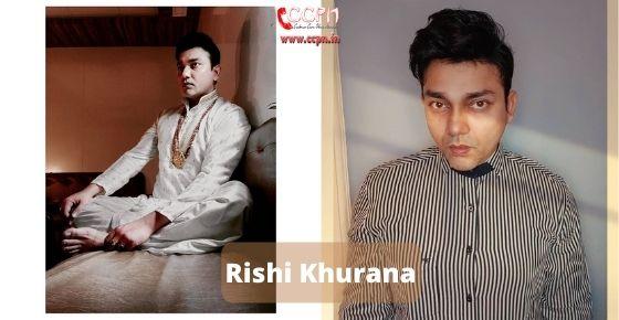 How to contact Rishi Khurana