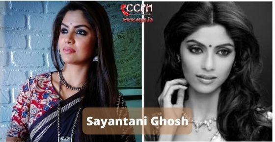 How to contact Sayantani Ghosh