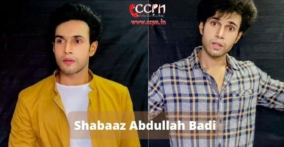 How to contact Shabaaz Abdullah Badi