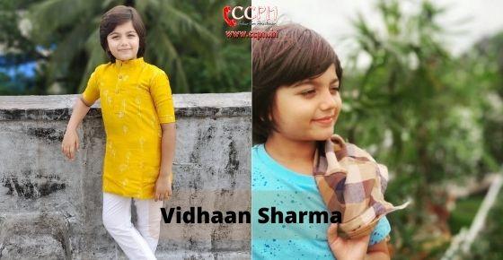 How to contact Vidhaan Sharma