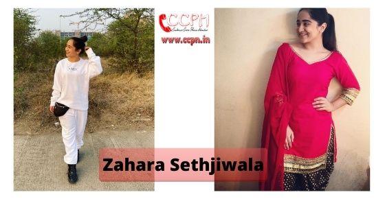 How to contact Zahara-Sethjiwala