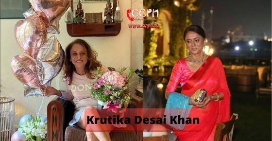 How to contact Krutika Desai Kha