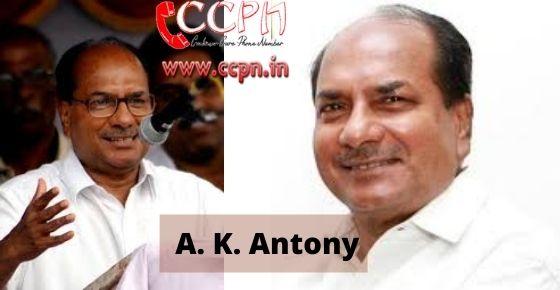 How to contact A.-K.-Antony