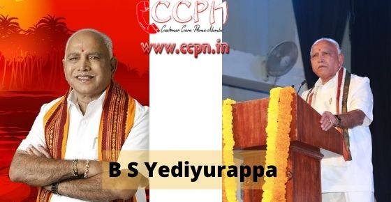 How to contact B-S-Yediyurappa