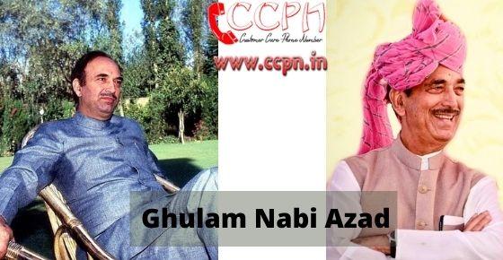 How to contact Ghulam-Nabi-Azad