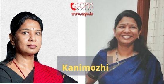 How to contact Kanimozhi