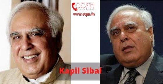 How to contact Kapil-Sibal