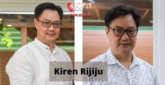 How to contact Kiren-Rijiju