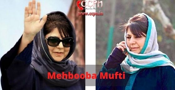 How to contact Mehbooba-Mufti